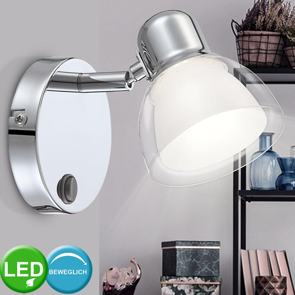 Design Wand LED Spot Lampe Strahler beweglich Bilder Leuchte Beleuchtung Diele