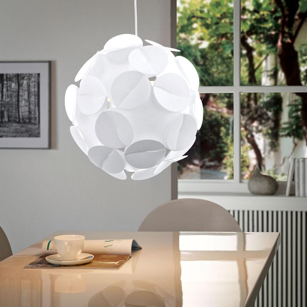 Kugel LED Decken Pendel Hänge Lampe Leuchte Beleuchtung Wohn Zimmer silber Büro