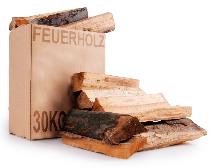 30 kg cardboard wood Grill oven fireplace heating firewood beech oak – Bild 1