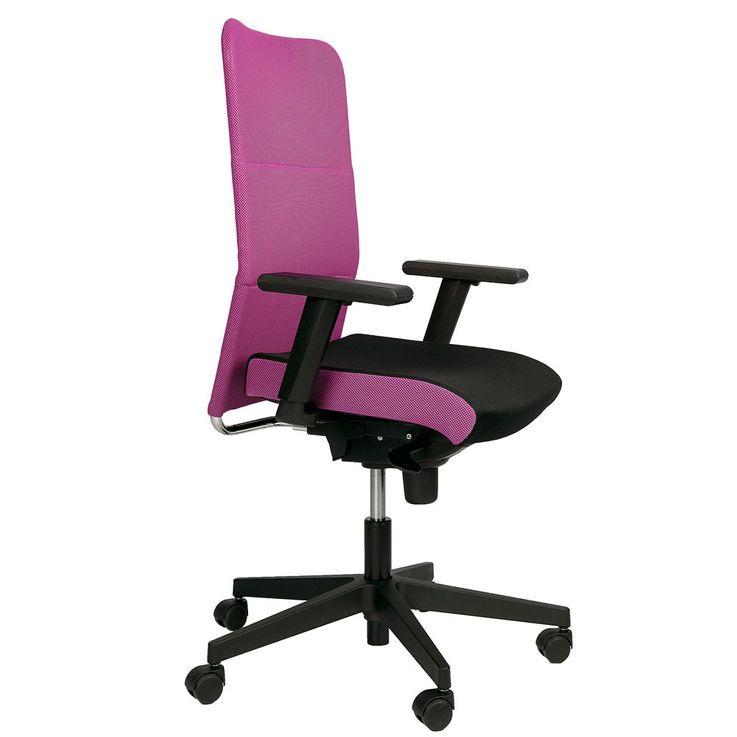 Chaise de bureau pivotante rose fauteuil roulant accoudoirs cabinet travail – Bild 2