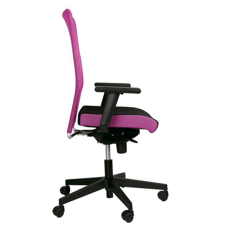 Chaise de bureau pivotante rose fauteuil roulant accoudoirs cabinet travail – Bild 3