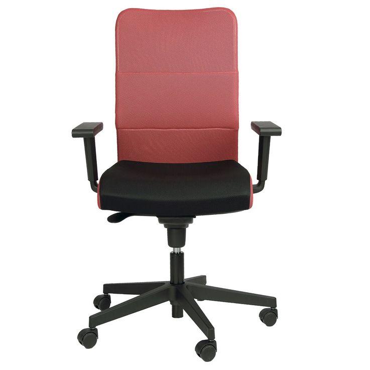 Fauteuil roulant fauteuil fauteuil accoudoirs pivotant fauteuil Montana plus Mafra rouge noir – Bild 1