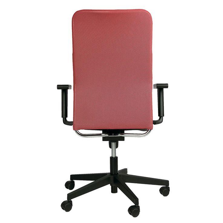 Bürostuhl Rollen Stuhl Rollstuhl Armlehnen Drehstuhl Montana Plus Mafra TS25 R19T Rot Schwarz – Bild 4