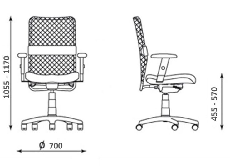 Bürostuhl Rollen Stuhl Rollstuhl Armlehnen Drehstuhl Montana Plus Mafra TS25 R19T Rot Schwarz – Bild 5