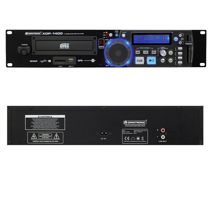 CD-/MP3-Player Fernbedienung Musiksystem CD-/MP3-Spieler OMNITRONIC XDP-1400 – Bild 5
