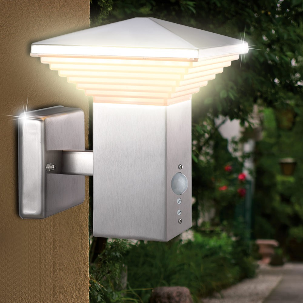 elegante wand und au enleuchte mit bewegungsmelder lampen m bel au enleuchten wandbeleuchtung. Black Bedroom Furniture Sets. Home Design Ideas