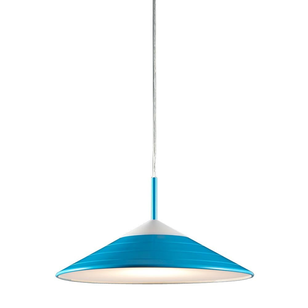 lustre suspension del 12w luminaire plafond bleu lampe. Black Bedroom Furniture Sets. Home Design Ideas