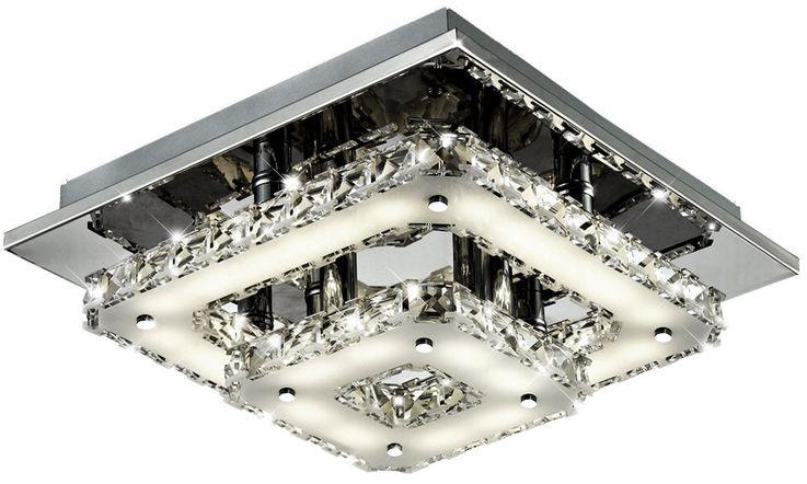 18 Watt LED Deckenlampe Leuchte Esszimmer Chrom Kristallglas Esto 9740019 Feeling – Bild 1