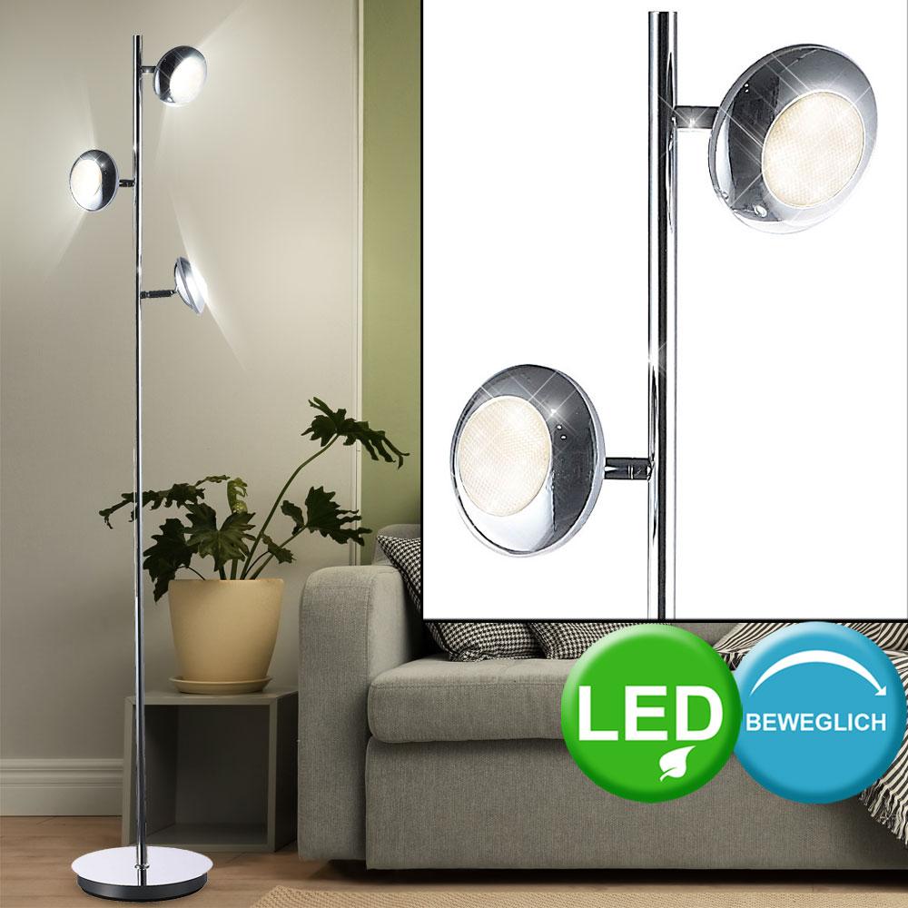 Floor Lamp Light 15 Watt Led Lamp Chrome Study Spot Retro Office