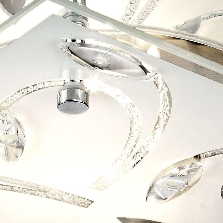 Plafonnier élégant chrome miroiterie plafond luminaire lumière éclairage Esto 40037 Ornament – Bild 7