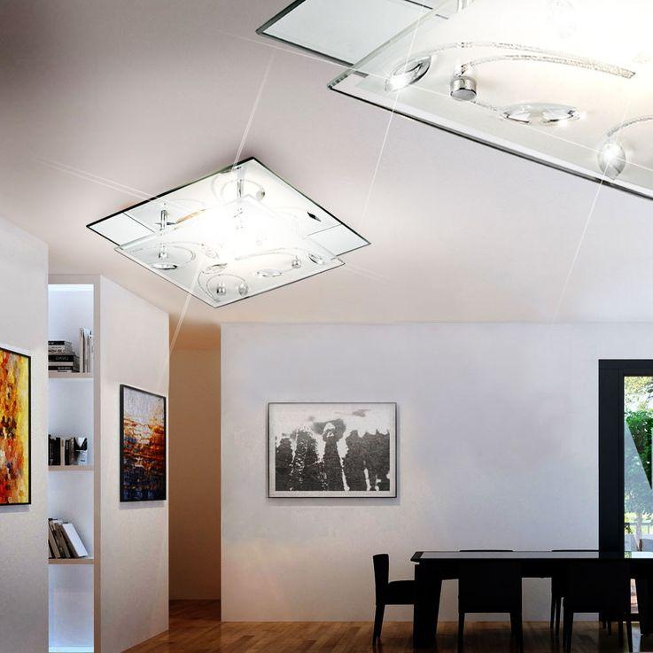Plafonnier élégant chrome miroiterie plafond luminaire lumière éclairage Esto 40037 Ornament – Bild 5