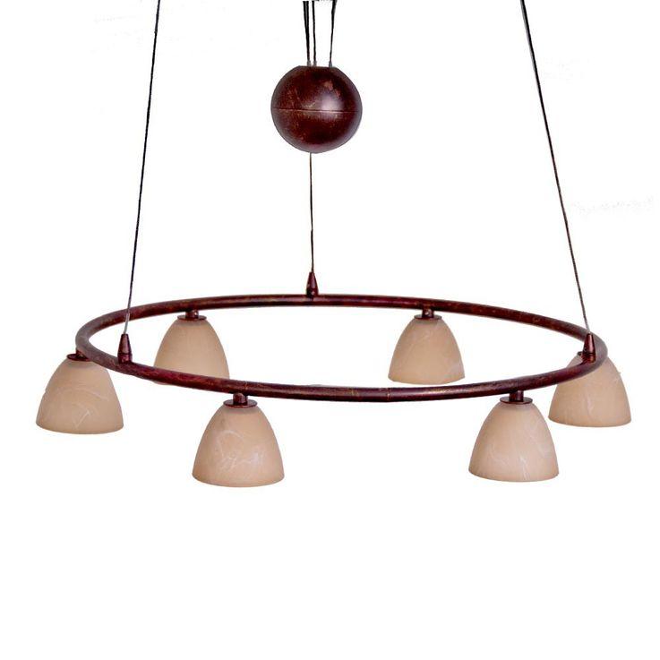 Suspension métal verre lustre luminaire plafond éclairage cuisine salle à manger – Bild 1