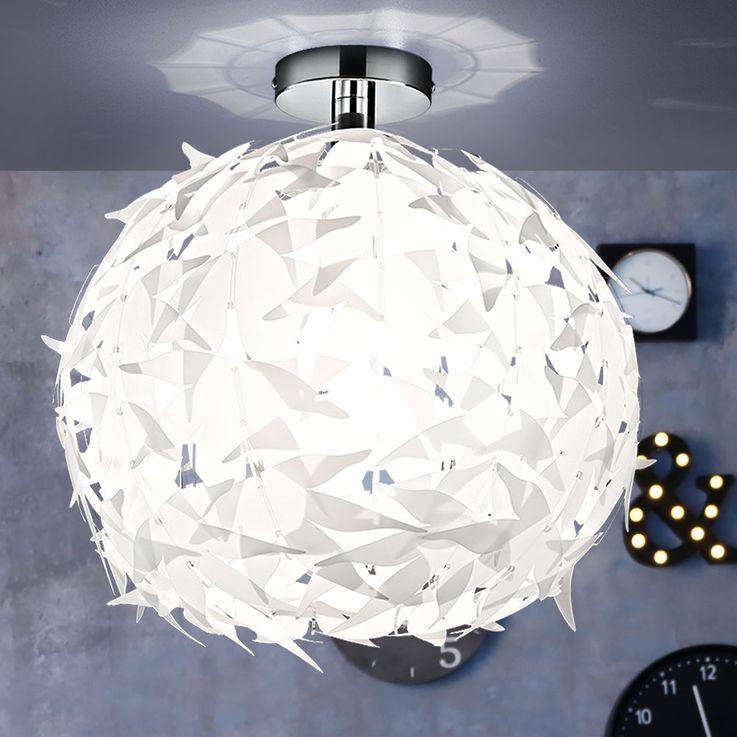 Hänge Decken Lampe Beleuchtung Chrom weiß Wohnzimmer Reality Leuchten R60621001 – Bild 4