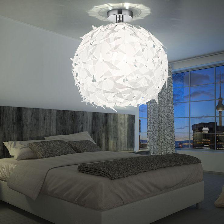 Hänge Decken Lampe Beleuchtung Chrom weiß Wohnzimmer Reality Leuchten R60621001 – Bild 5