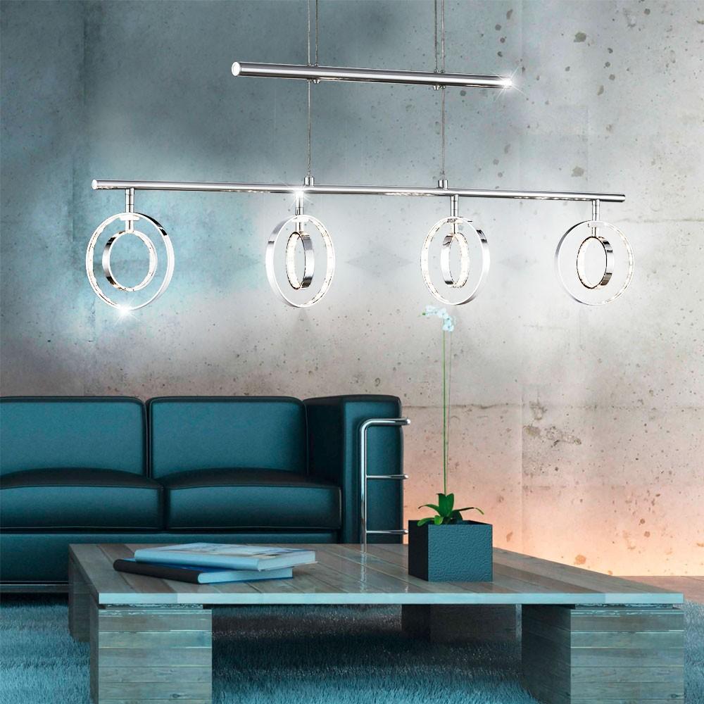 LED 16 W Pendel Leuchte Ringe beweglich Esszimmer Hänge Lampe ...