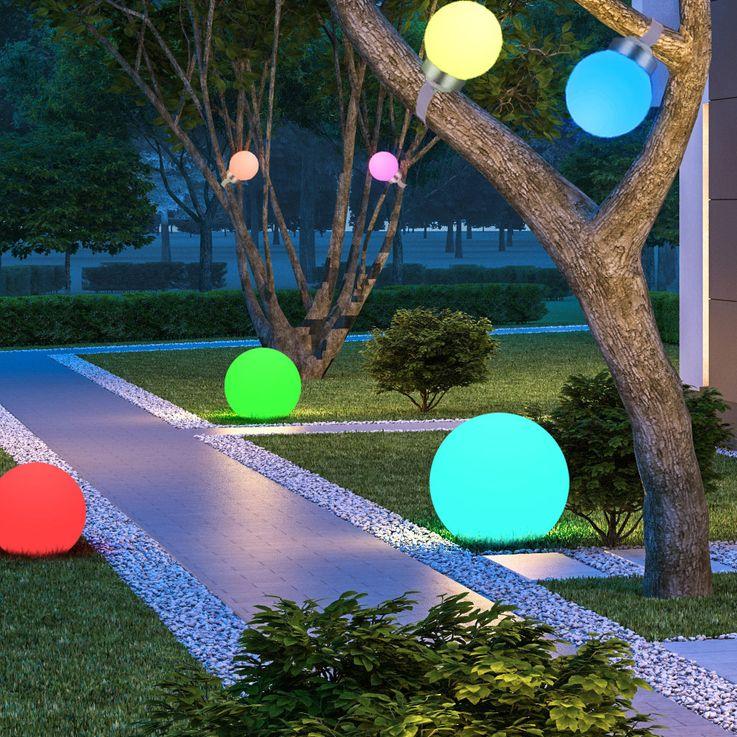 RGB LED plug light solar lamp color changer IP44 garden colorful Globo 33795-15 – Bild 3
