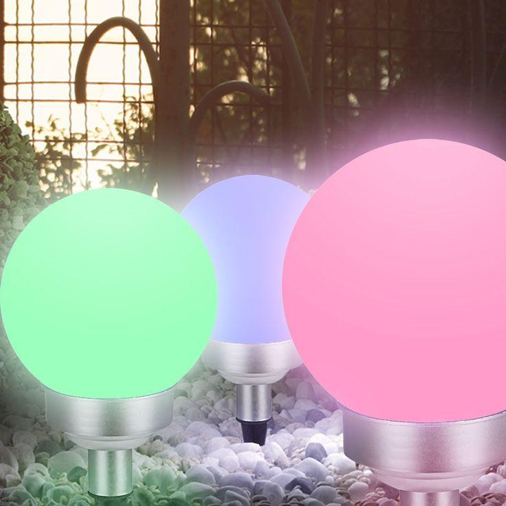 RGB LED plug light solar lamp color changer IP44 garden colorful Globo 33795-15 – Bild 7