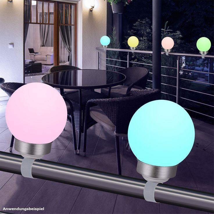 RGB LED plug light solar lamp color changer IP44 garden colorful Globo 33795-15 – Bild 4