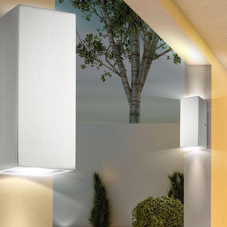 Wandleuchte in modernem Edelstahl-Design – Bild 3