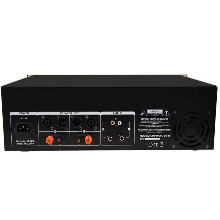 1600 Watt Verstärker mit Line Eingang USB Bluetooth Disco Event Equipment Sound AMP1000USB-BT – Bild 2
