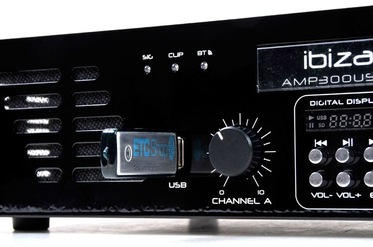 "480 Watt audio amplifier with line input USB MP3 Bluetooth audio sound 2HE-19 ""AMP300USB-BT – Bild 4"