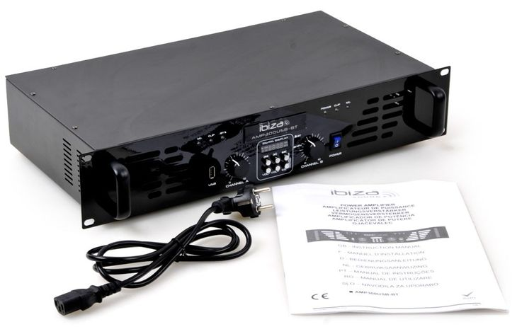 "480 Watt audio amplifier with line input USB MP3 Bluetooth audio sound 2HE-19 ""AMP300USB-BT – Bild 7"
