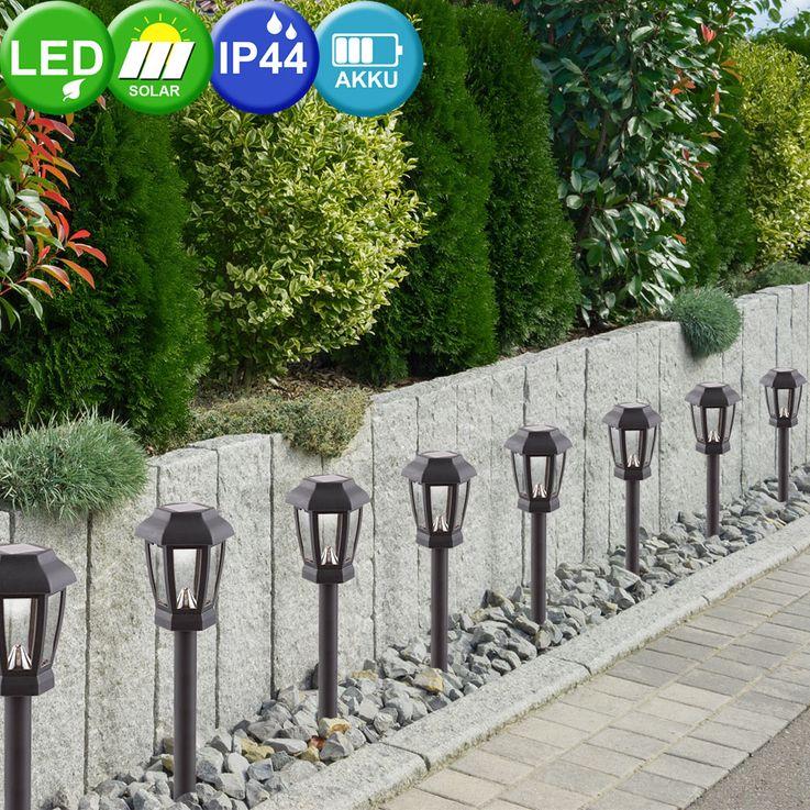 Ensemble de 4 lumières solaires LED Lumières extérieures Lampe Lampe d'éclairage Globo 33861-4 – Bild 3