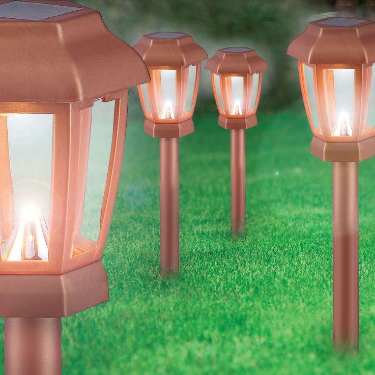 Set of 4 LED Solar Lights Outdoor Lights Lighting Lamp Lamp Copper Color Globo 33862-4 – Bild 6