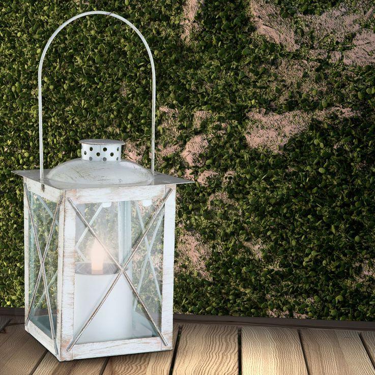 Hochwertige LED Solarlampe aus Metall – Bild 4