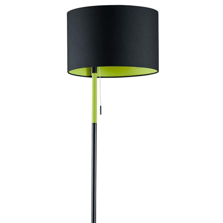 Lampadaire lumière lampe luminaire éclairage vert noir interrupteur tirette TRIO 401400102 LANDOR – Bild 8