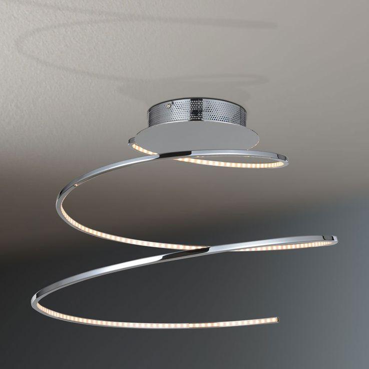 LED ceiling lamp living room lighting chrome spiral light WOFI 9543.01.01.0000  description – Bild 6