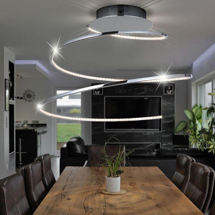 LED ceiling lamp living room lighting chrome spiral light WOFI 9543.01.01.0000  description – Bild 2