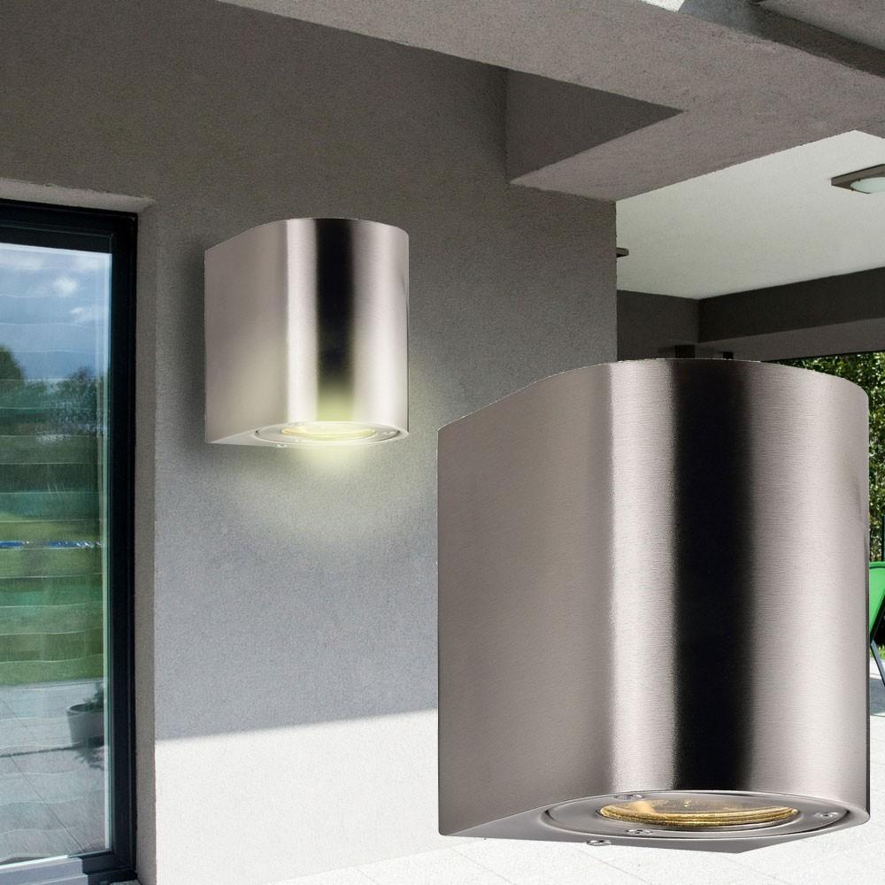 led edelstahl wand down strahler h he 11 cm canto lampen m bel au enleuchten wandbeleuchtung. Black Bedroom Furniture Sets. Home Design Ideas