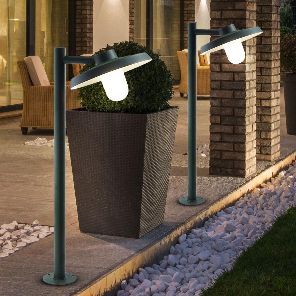Lampadaire ext rieur luminaire jardin acier galvanis for Exterieur ip44