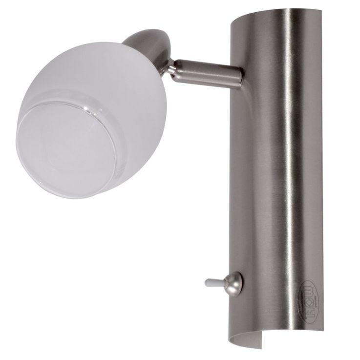 LED Wand Leuchte EEK A+ Glas weiß lackiert 1-flg Nickel matt WOFI 4301.01.64.0000 – Bild 1