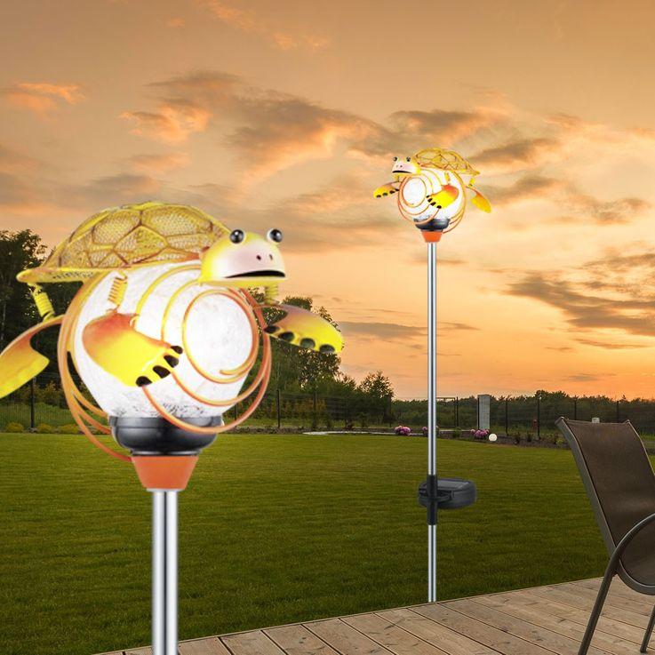 LED lampe solaire lumière tortue figure extérieure lampe IP44 jardin terre crache EGLO 47635 – Bild 3