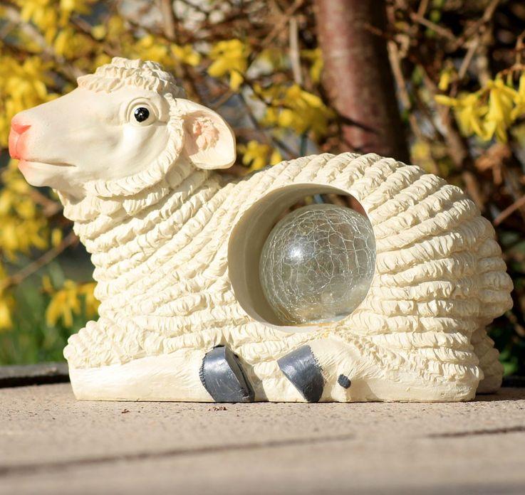 Außen LED Lamm Schaf Design Garten Leuchte Solar Licht Beleuchtung Tier Deko Lampe EGLO 47856 – Bild 9