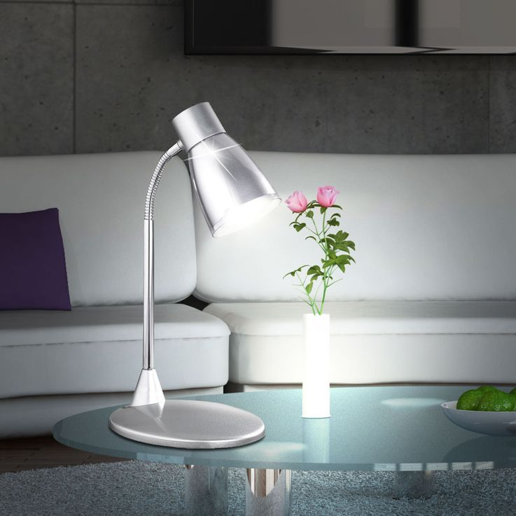 Luxury LED writing table lamp Bedroom Beistell reading light Flexo Spot gray WOFI 834901509000 – Bild 3