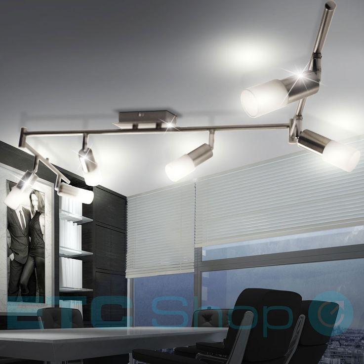 LED Deckenstrahler in silber matt mit 6 beweglichen Spots ALVIS – Bild 2