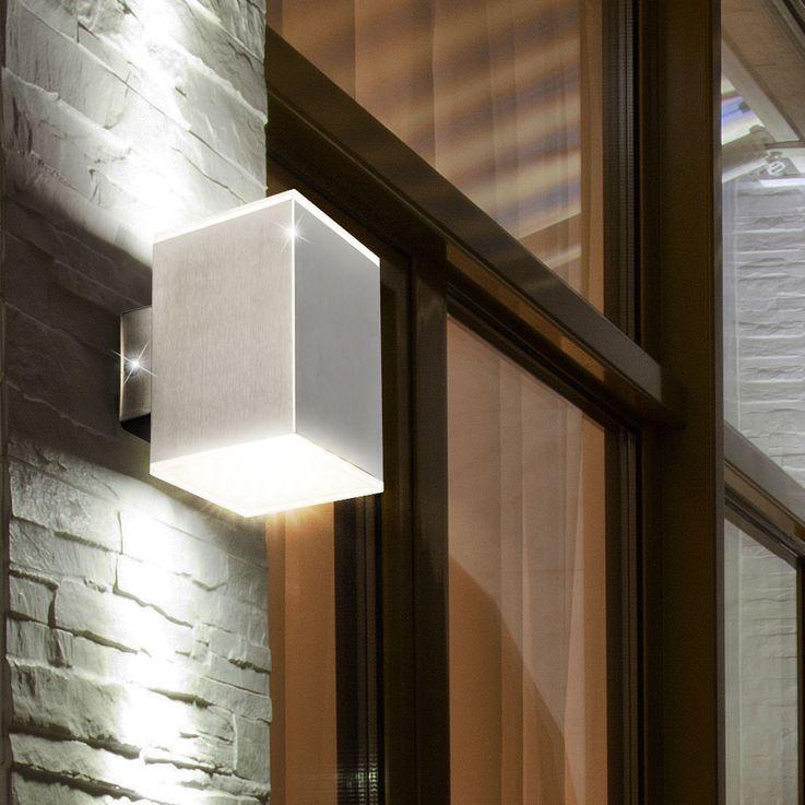 LED Outdoor Wall Lamp 11 Watt Stainless Steel 3000 K Porch EEK A Terrace Globo 34258 – Bild 2