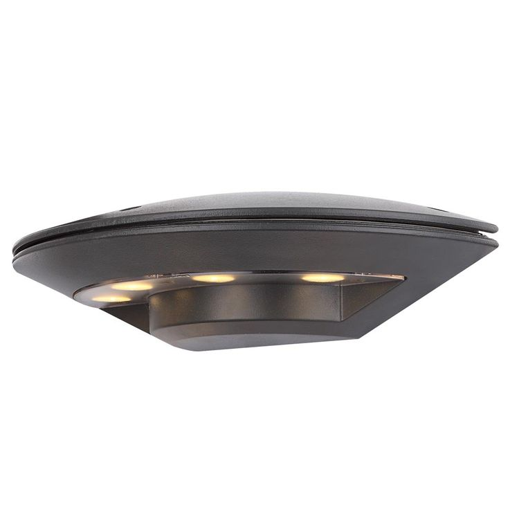LED 4 Watt Wand Lampe Veranda Aluminium Anthrazit Leuchte IP44 Globo 34279 MILLENNIUM – Bild 1