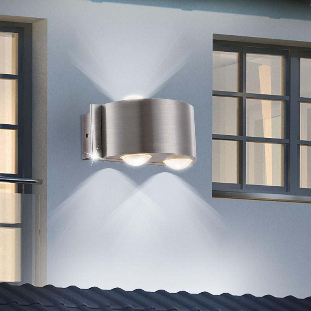 4 watt ext rieur clairage mural led aluminium verre transparent balcon terrasse ebay. Black Bedroom Furniture Sets. Home Design Ideas