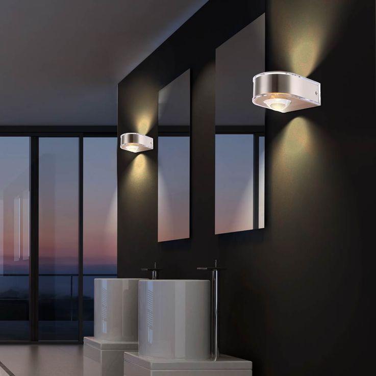 3,5 Watt LED Wall Outdoor Lamp Design Lamp Round Stainless Steel Up & Down Globo 34179 DEK – Bild 4