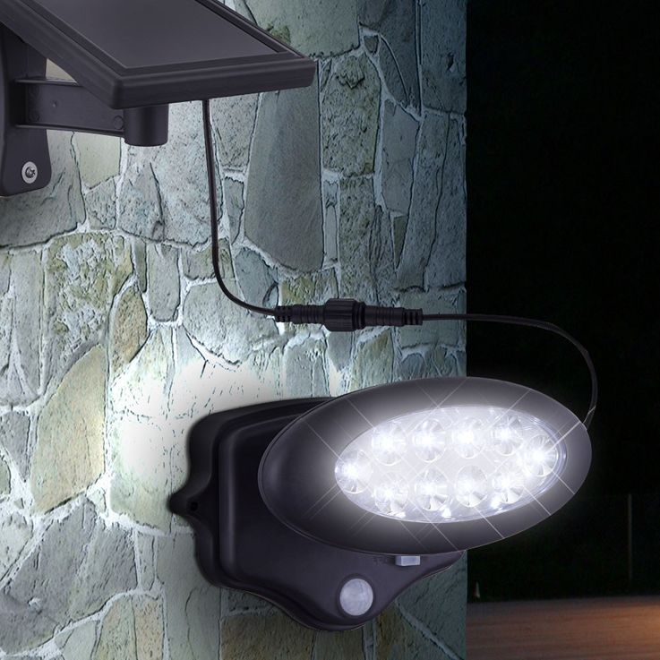 LED solar lamp outdoor lighting garden light sensor of mobile anthracite Globo 3722 S – Bild 8