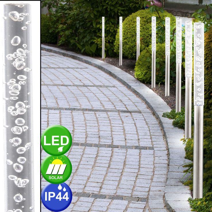LED Steck Leuchte Außenbereich IP44 weiß Garten Licht Lampen Edelstahl Beleuchtung Globo 33246 – Bild 3