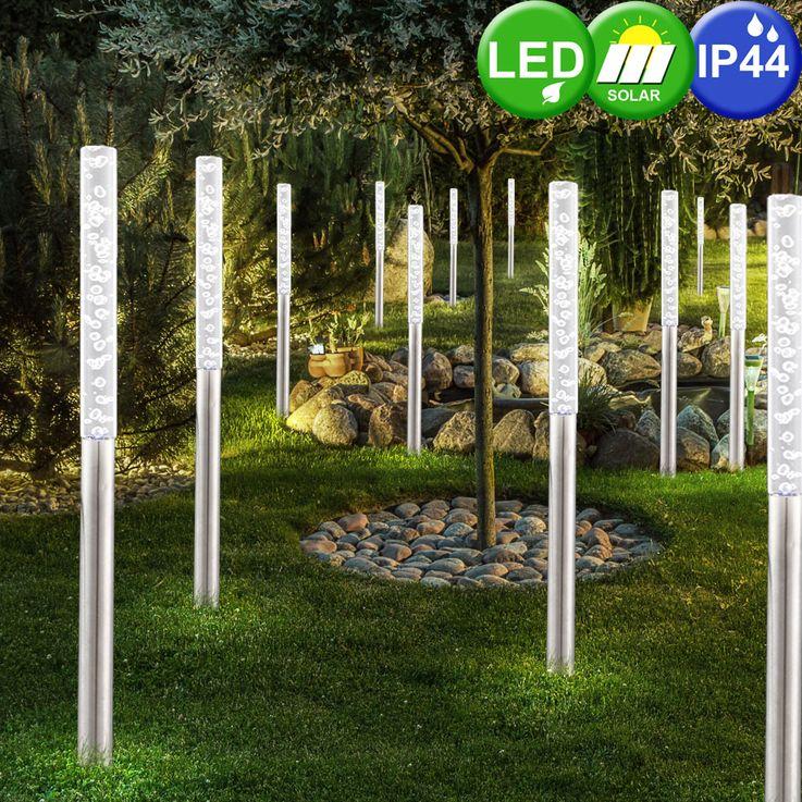 LED Steck Leuchte Außenbereich IP44 weiß Garten Licht Lampen Edelstahl Beleuchtung Globo 33246 – Bild 5