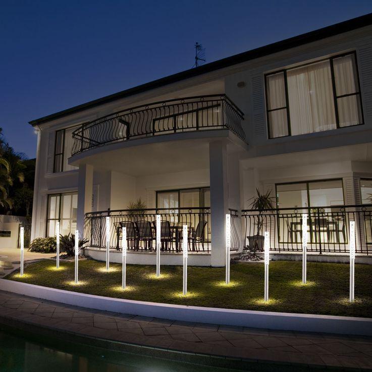 Projecteur LED Outdoor IP44 blanc Lampes de lumière pour jardin Éclairage en acier inoxydable Globo 33246 – Bild 7