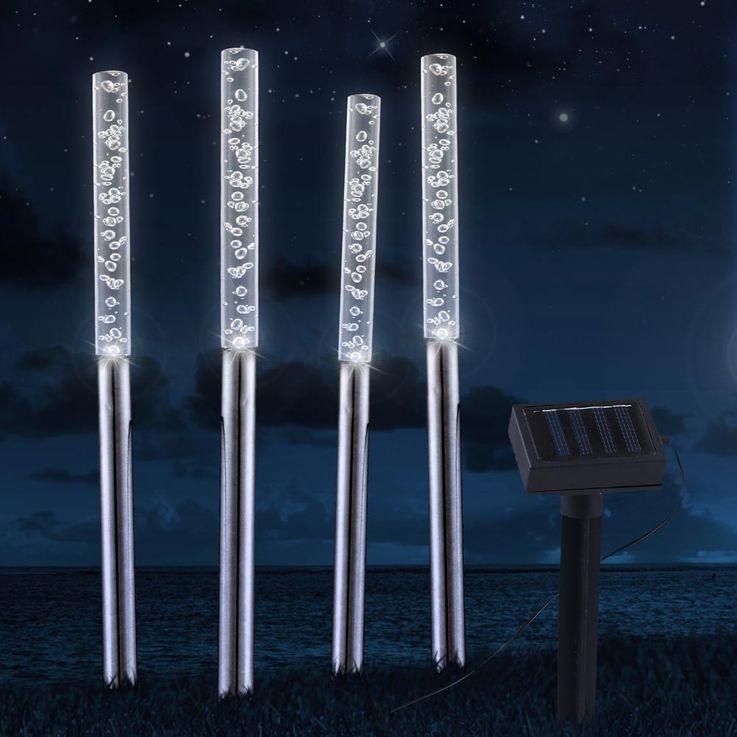 Projecteur LED Outdoor IP44 blanc Lampes de lumière pour jardin Éclairage en acier inoxydable Globo 33246 – Bild 13