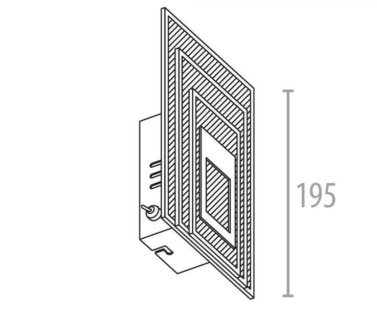COB LED 5 Watt Wandleuchte Beleuchtung Glas Aluminium Leuchte Esto UNIVERSE 745028 – Bild 4
