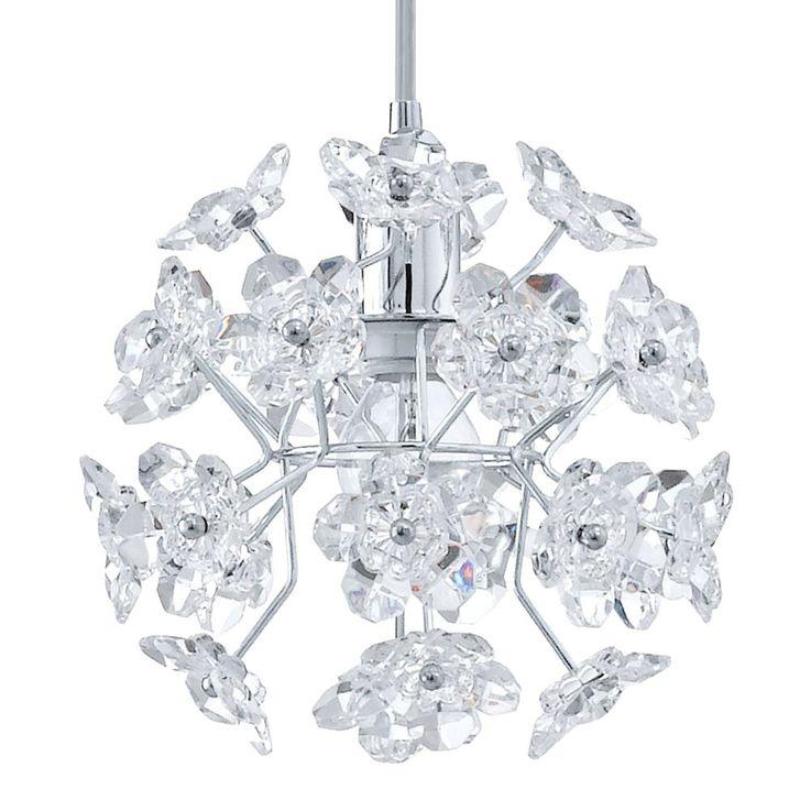 Lustre luminaire plafonnier suspension éclairage lumière chrome clair IP20 E14 Eglo 91817 Fenari – Bild 4